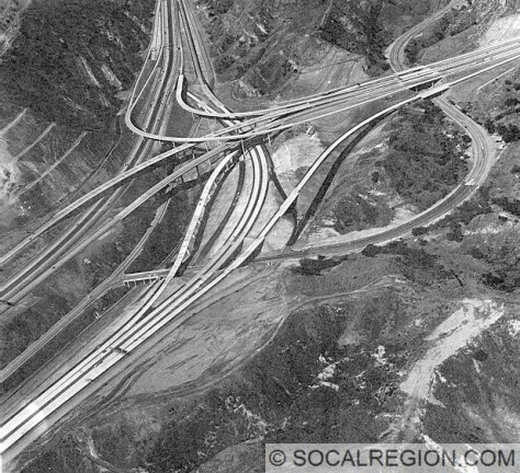 "The second ""build"" of the 5 / 14 Interchange following the Sylmar Earthquake."