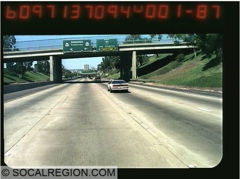 Former white State 94 shields on the freeway near downtown. Courtesy - Caltrans