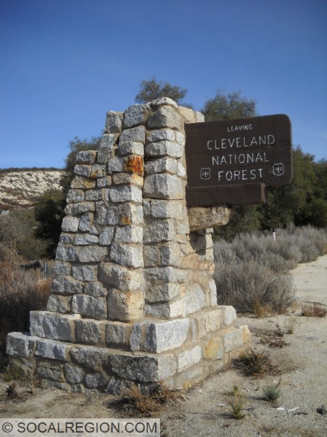 Original Cleveland National Forest sign near La Posta.