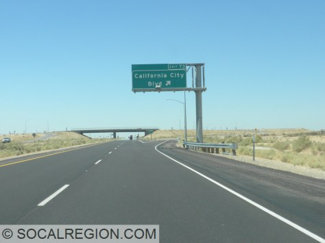 California City Blvd interchange, added in the early 2000's.