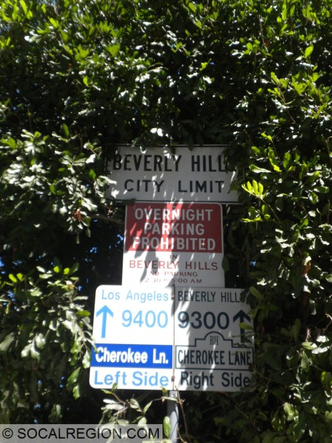 First sign at the Beverly Hills City Limits. So far, same road name.