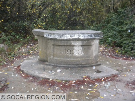 Old Carmel River Bridge end cap, with date stamp.