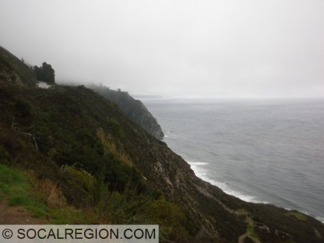 Fog and stormy weather along Big Sur.