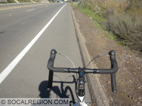 View from the handlebars, on Gilman Dr.