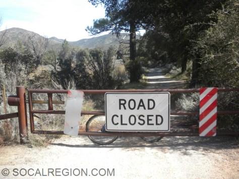 First closure gate on Pine Creek Road.