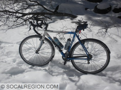 Gotta get a shot of the bike in the snow!