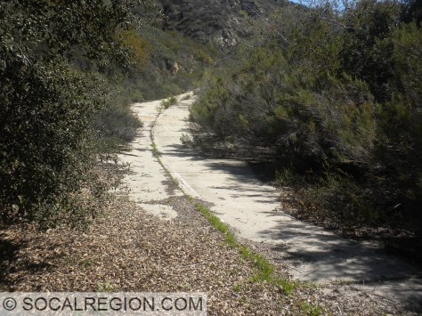 Abandoned concrete between Steele Canyon and Jamul.