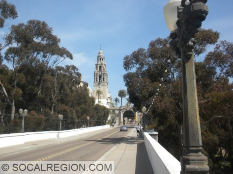California Building and Cabrillo Bridge in Balboa Park