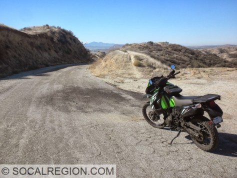My KLR 650 out on the highway.