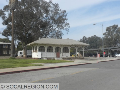 Soldiers Home Waiting Station on the Veterans Administration grounds in West Los Angeles.