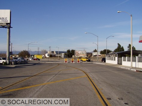 Former alignment of San Fernando Road from Lyons Ave to 11th St.