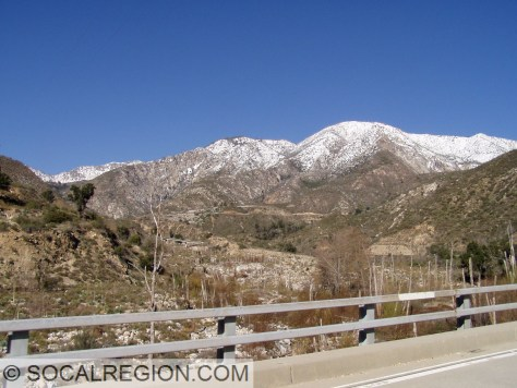 Looking up the canyon from the West Fork San Gabriel River Bridge (53-2244)