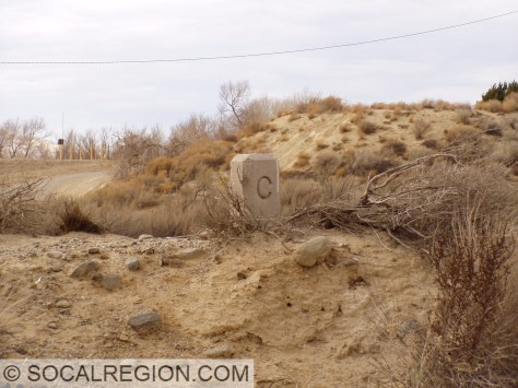C-Monument near the San Andreas Fault crossing.