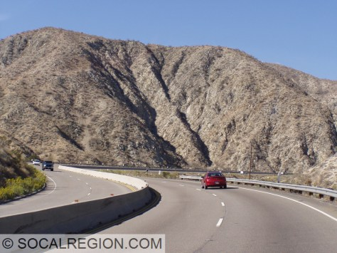 Through Little Morongo Canyon, State 62 is a very curvy expressway built in the early 1960's.