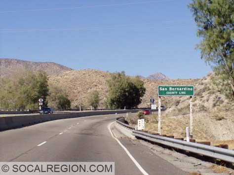 At the San Bernardino County line.