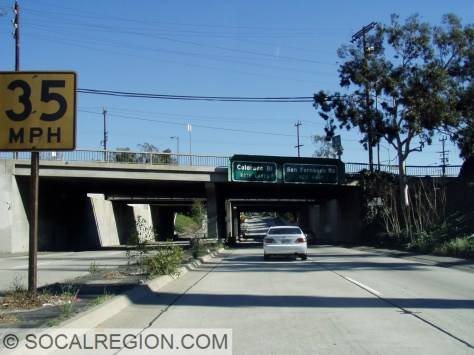 Approaching San Fernando Road and the SP/Metrolink tracks.