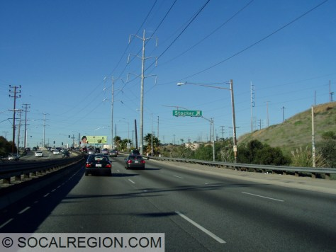 "Northbound ""exit"" for Stocker Blvd."