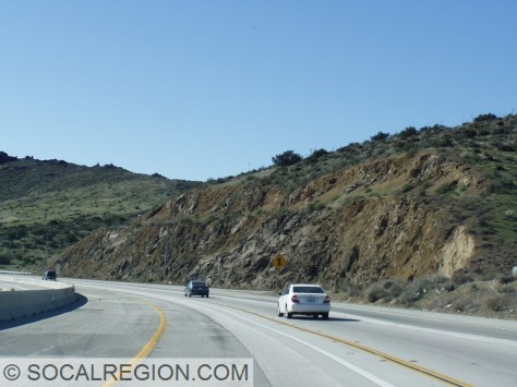 Oligocene Vasquez Formation basalts along the Antelope Valley Freeway (State 14).