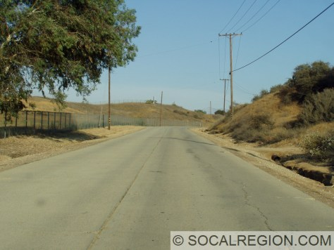 Roberts Road near Calimesa with 1920's concrete paving.