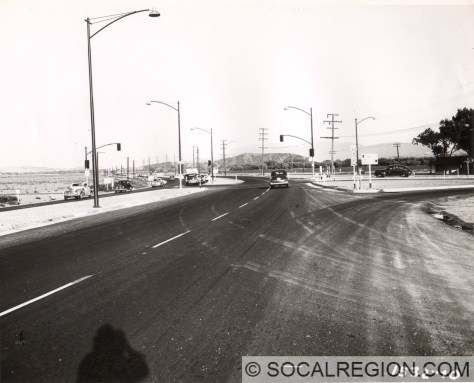 1949 view, looking south, at Castaic Junction. Photo Courtesy - Caltrans