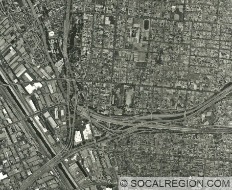 1999 Aerial photo of the East Los Angeles Interchange.