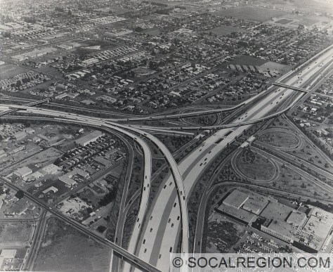 1970's proposal for the State 1 and State 55 Interchange (Pacific Coast Freeway and Newport Freeway).