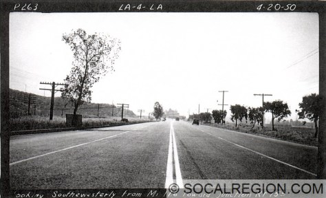 Looking south toward Sepulveda Junction in 1950.