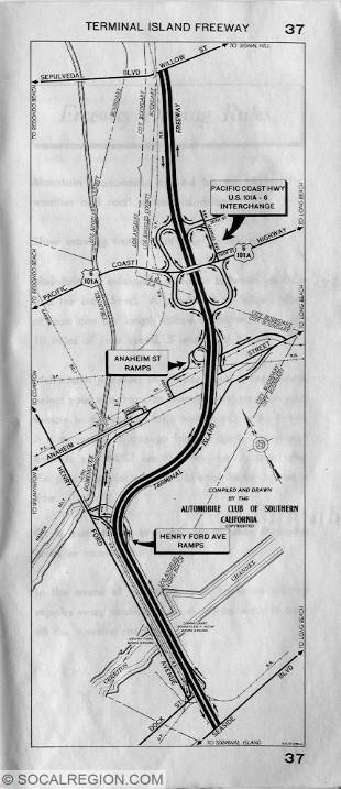 1955 ACSC Map of the Terminal Island Freeway.