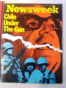 Newsweek cover from 1973 coup
