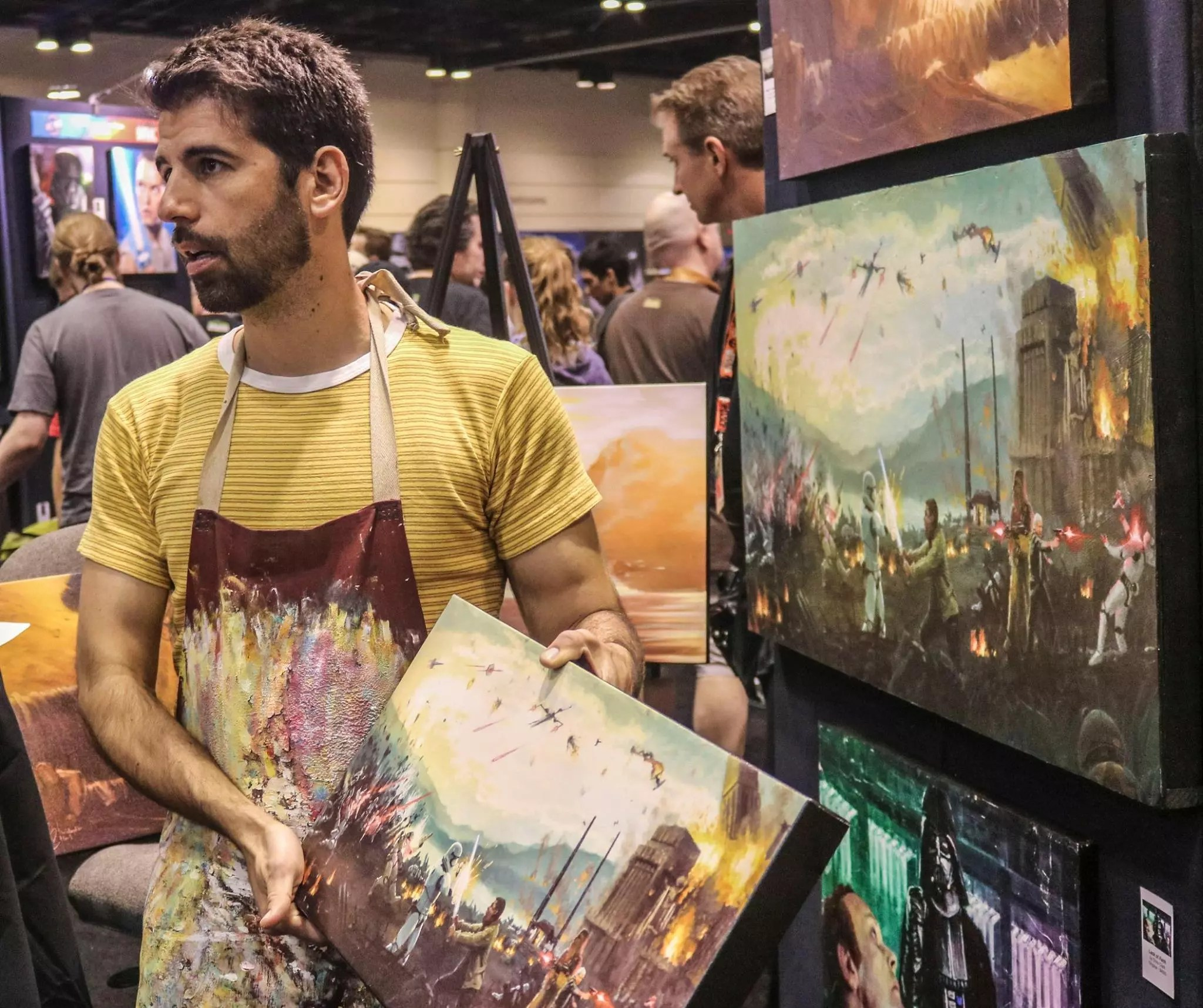 A look at some of the featured art work and artists at Star Wars Celebration Orlando