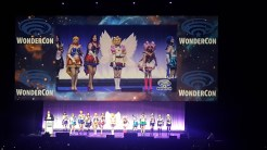 Sailor Moon cosplay group in the Masquerade contest.