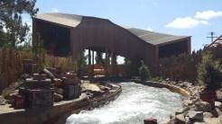 Pony Express roller coaster flies over Calico River Rapids