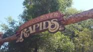 Calico River Rapids signage marks the entrance