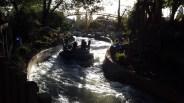 Rafts traversing treacherous waterways