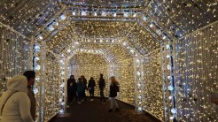 Twinkle Tunnel with white lights