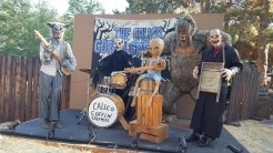 A creepy band of misfits play spooky music