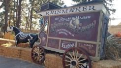 Skeleton horse-drawn wagon