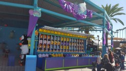 Carnival games in the Boardwalk and Fiesta Village