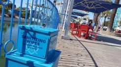 Sanitizing Wipes for tables and chairs for guest use