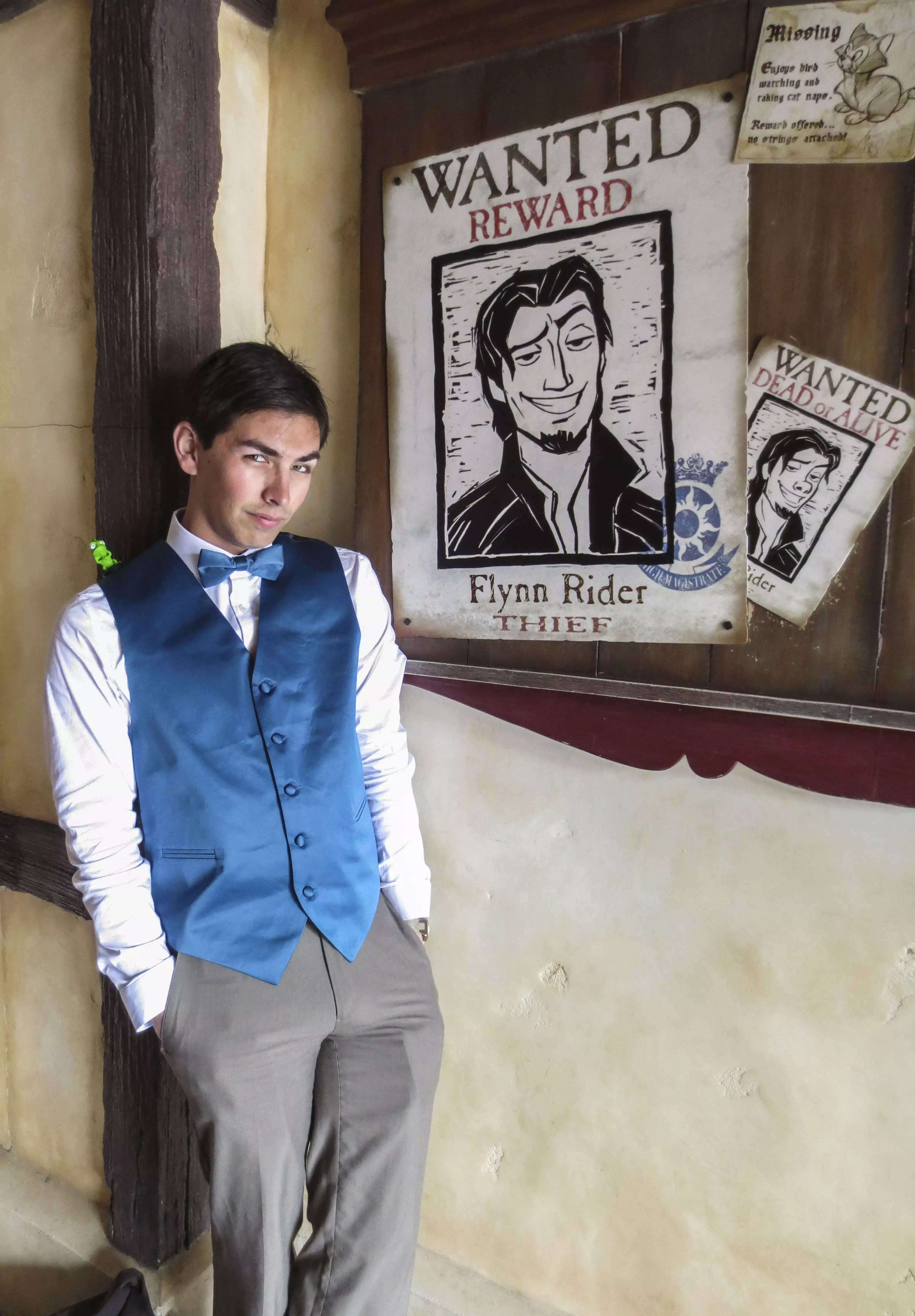"""My attempt at a Flynn Rider """"Disneybound"""" for the Spring 2015 event."""