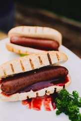 Boysenberry Sausage on a Bun