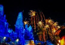 Disneyland's Fireworks over Galaxy's Edge