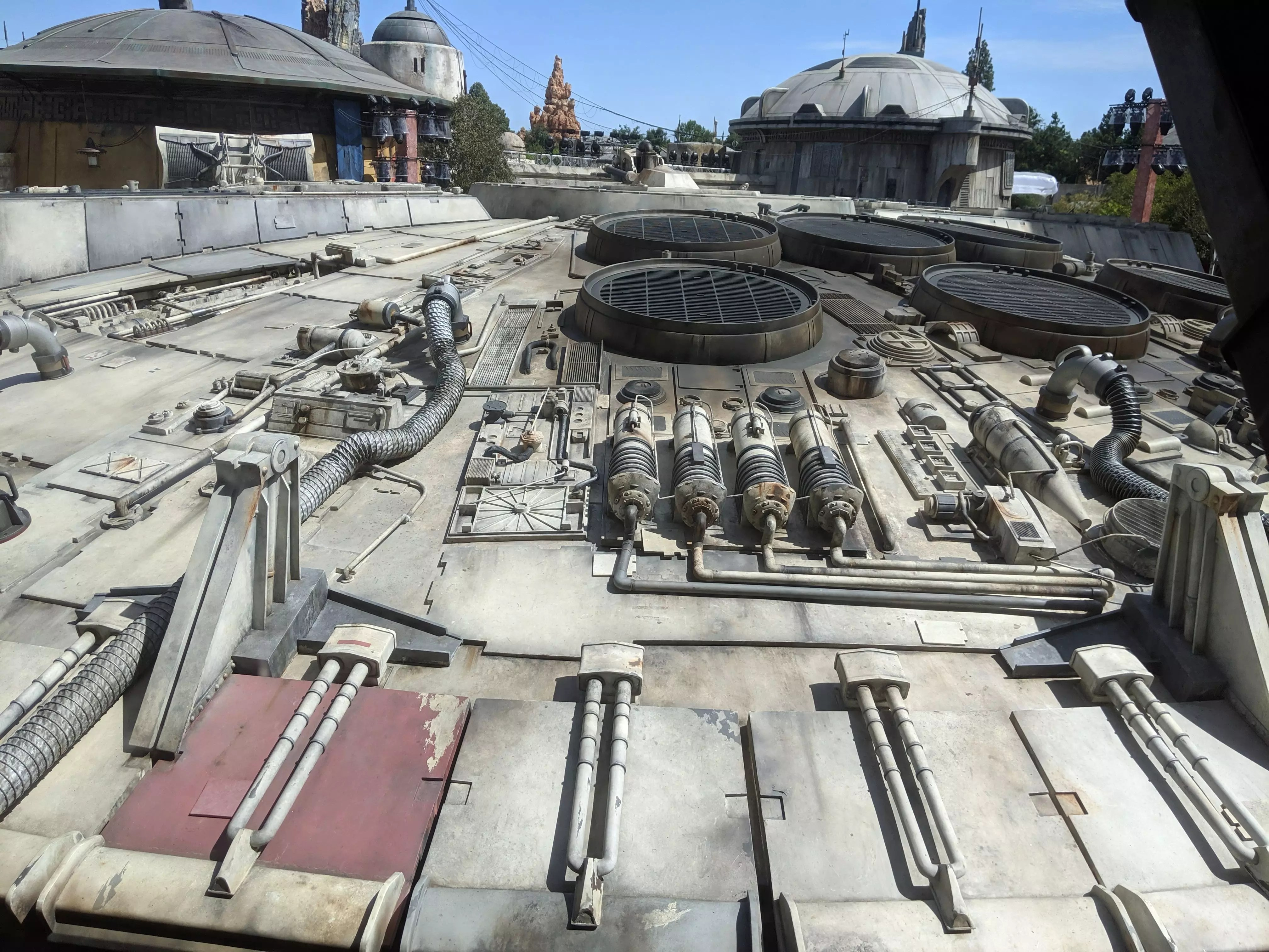Get up close and personal with the Millennium Falcon!