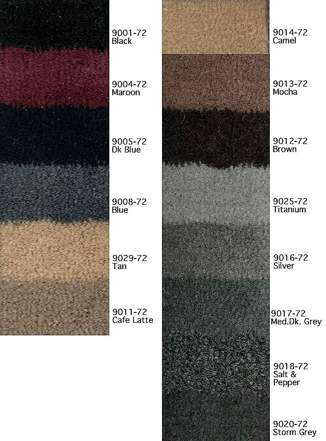 carpet kits color selection