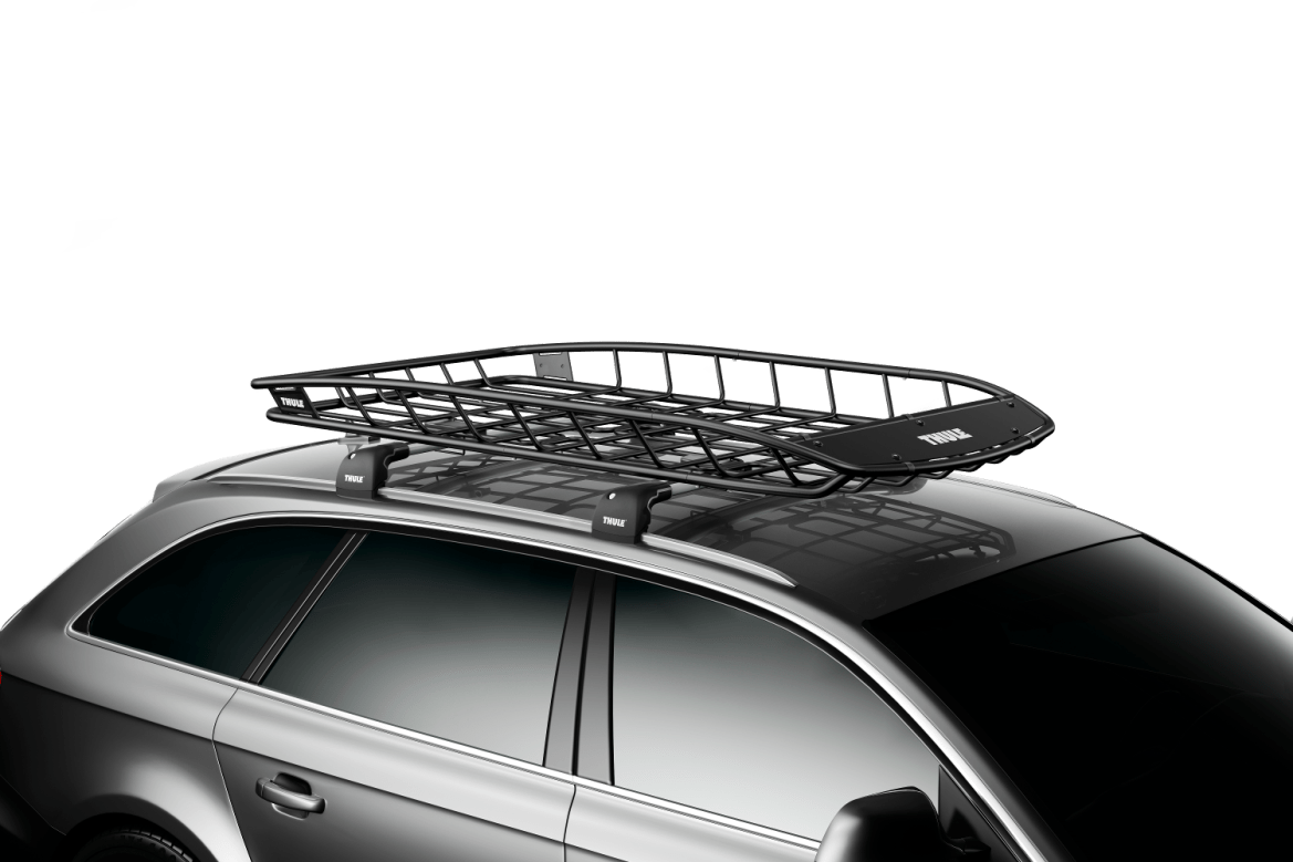Thule Canyon XT cargo management roof basket with extension.