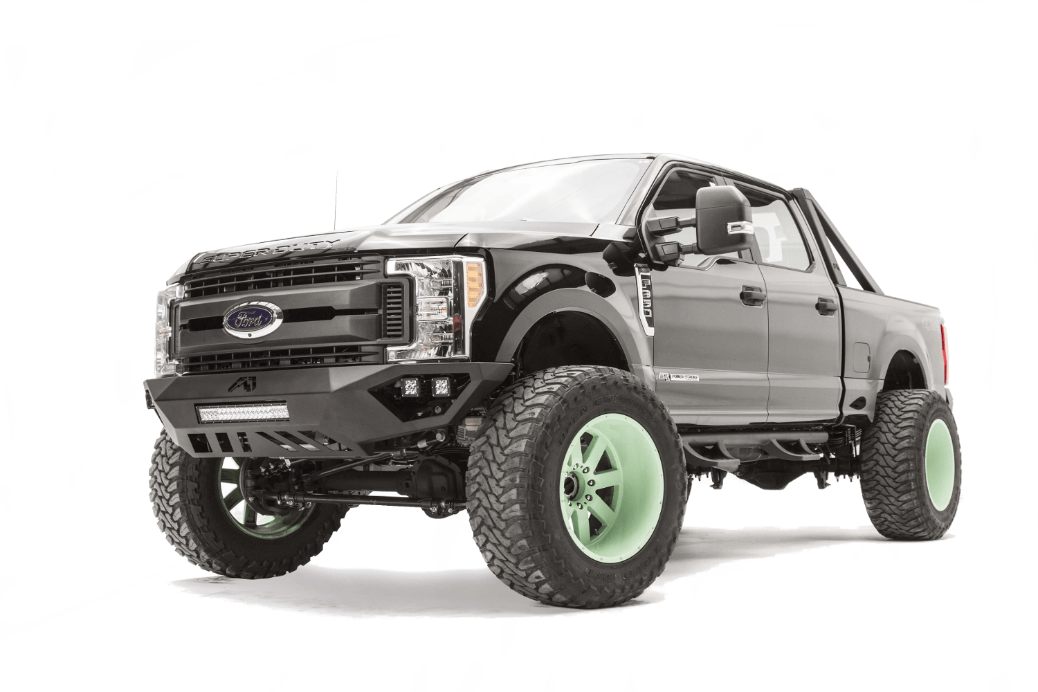 Vengeance front bumpers on a Ford SuperDuty.