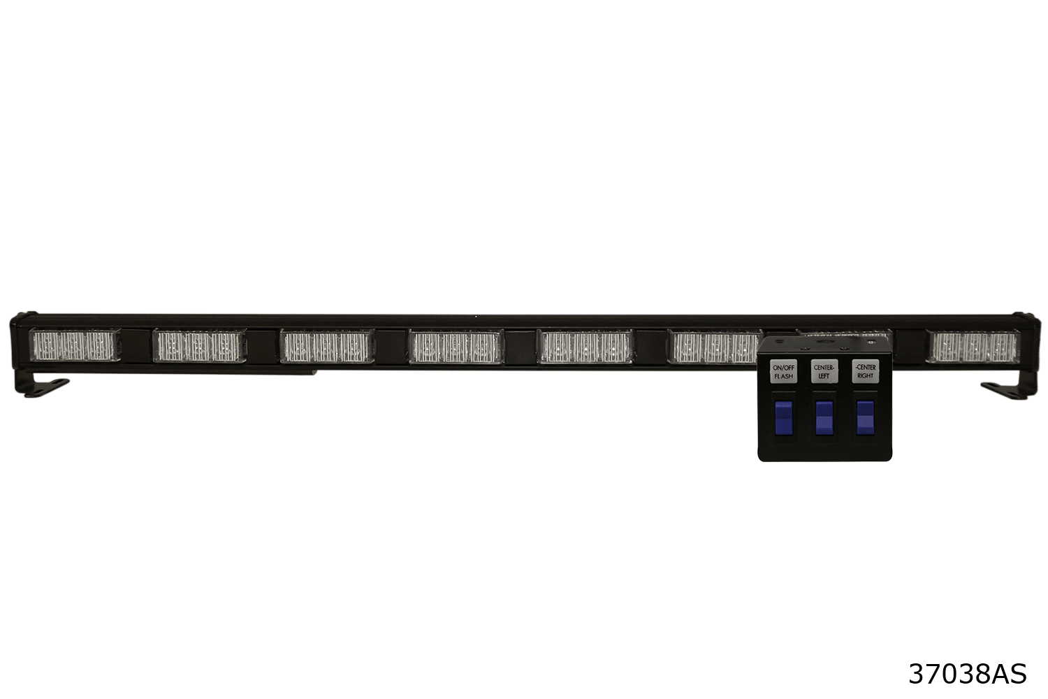 SAE Class I LED. High output directional warning with the added benefits of low amp draw, maintenance free, and long-life LED light source. Features 32 flash patterns selectable via in-cab rocker switch panel.