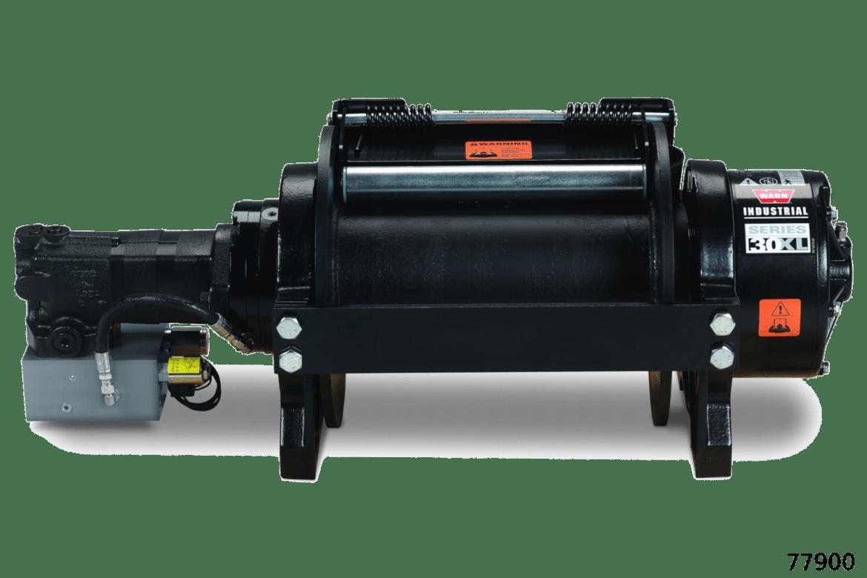 warn industrial hydraulic hoist 30xl series xl winches 77900