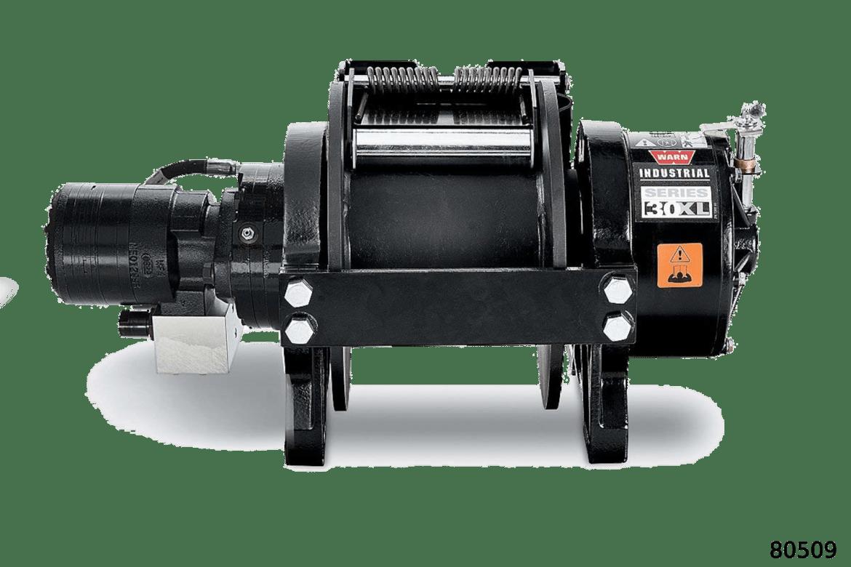 warn industrial hydraulic hoist 30xl lp standard drum manual clutch 80509