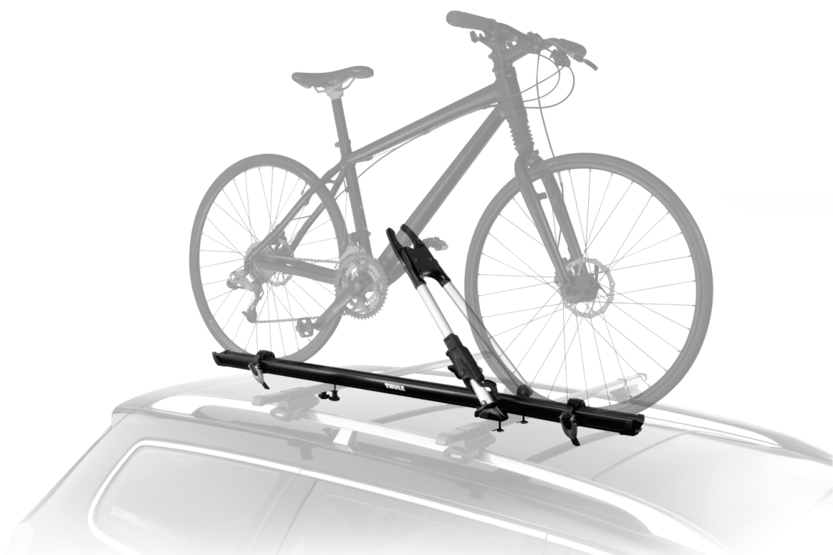 Thule roof rack bike rack.